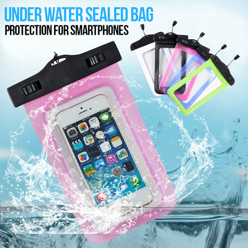 Waterproof Sealed bag for Smartphones iPhones Android Google Samsung