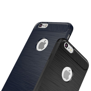 iPhone 6 & 6s Anti-Knock, Dirt Resistant TPU Carbon Fibre Like Brushed Style Case