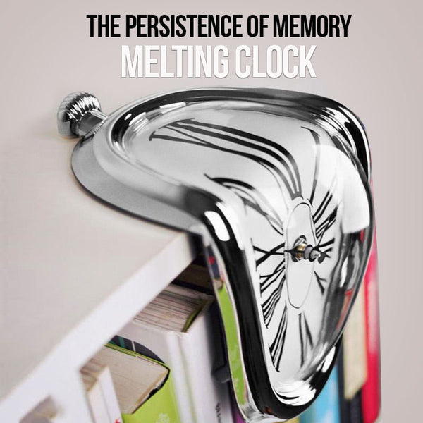 Quartz Melting Clock inspired by Salvador Dalí's iconic 'The Persistence of Memory'