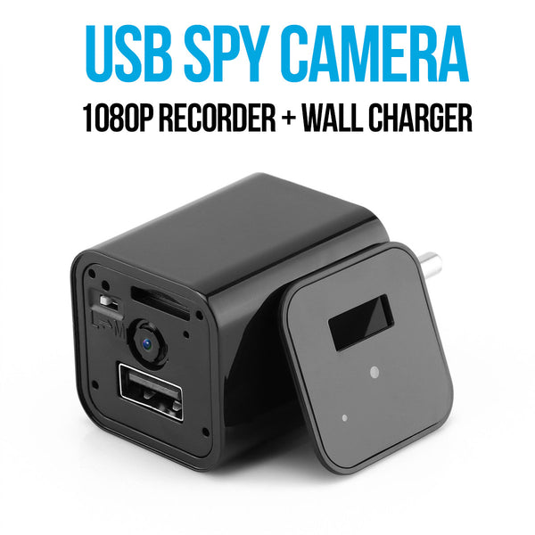 Mini HD 1080P Hidden Camera USB Wall Charger Home Security Adapter