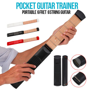 Portable Pocket Guitar Trainer 6 String 6 Fret