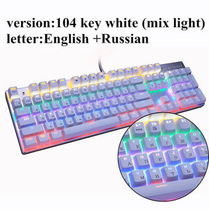 Gamers Metoo  Edition Backlit Heavy Duty Mechanical Keyboard 87 / 104 keys lights FX