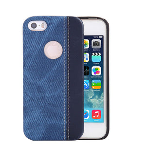 Fashionable Leather / Cloth Case for iPhone Models 5 / 6 / 7