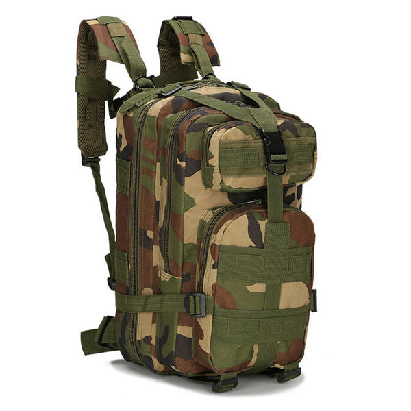 Military Heavy Duty Tactical Backpack in woodland colors