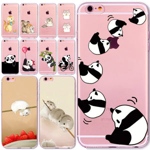 FREEBIE - Cute Pandas / Hamsters / Kitties iPhone Protective Case For iPhone 5 5S  6 6S  7 8