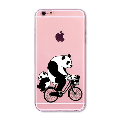 Bicycle Panda iPhone case