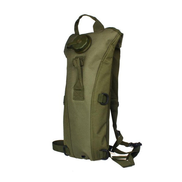 Hydration Water Bag Pouch Backpack-Bladder for hiking, climbing, hunting in army green color
