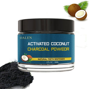 Organic Teeth Whitening With Coconut Shell Activated Charcoal