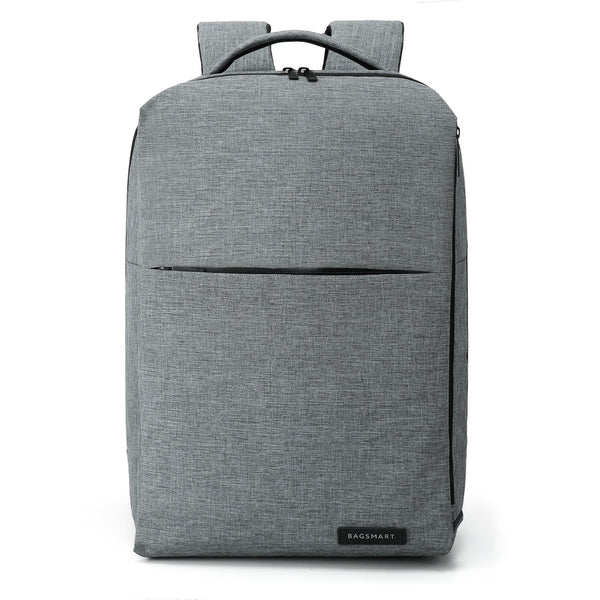 Water Resistant Backpack with Headphone Port in grey color