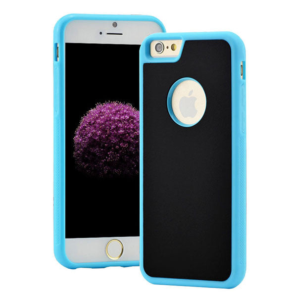 Anti-shock - Anti-gravity Nano-Suction Surface Area Case For iPhone 6 / 7 shown in powder blue color