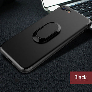 Multifunction iPhone Case, Dirt-resistant, Anti-knock, Magnetic Kickstand, & Finger Ring Holder