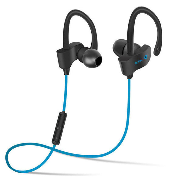 In-Ear / Ear Hooks Wireless Bluetooth 4.1 Sports ANC Headphones, Sweat resistant / Waterproof blue color
