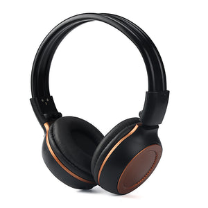 Wireless Stereo Bluetooth 3.0 Adjustable Headphones Built-in Mic And FM Radio