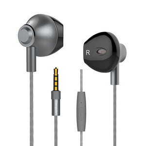 Langsdom F9 Wire Stereo Earbuds Metal Built-in Microphone and remote Control