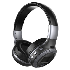 Wireless Stereo Bluetooth 3.0 adjustable headphones with  Built-in Mic - TF card Slot - LED Display Screen