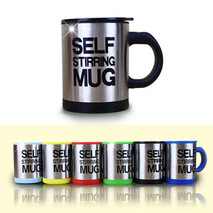 Stainless Steel Self Stirring, Self Mixing Coffee Mug 400ml Thermal Double Insulation.
