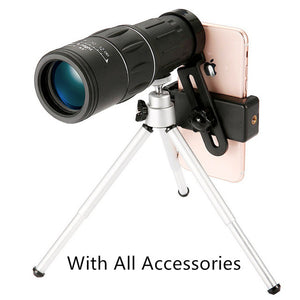 Monocular Optical Telescope Dual Focus 16X52 66M/8000M