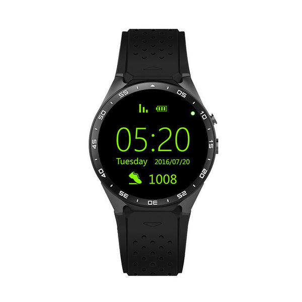 KW88 Android Smart Watch MTK6580 CPU 1.39 inch 2.0MP camera black color