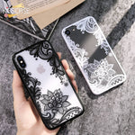 Sexy 3D Lace Flower Patterned Case For iPhone X 8 8Plus 7 7Plus 6 6s 6Plus 5 5s 5SE