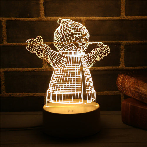 Christmas LED Lamps Snowman - Xmas Tree - Xmas Bear