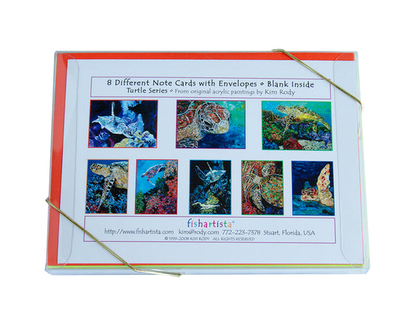 Sea Turtle Series Note Card Collection