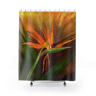 Bird of Paradise Shower Curtains