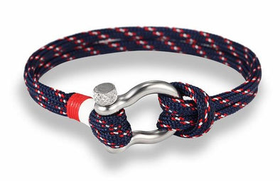 Ocean Life Nautical Rope Bracelet - Pacific Blue