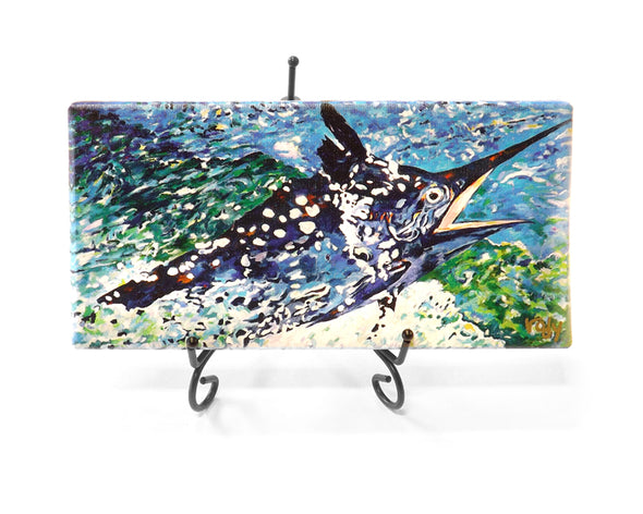 Big Black Marlin Mini Giclee