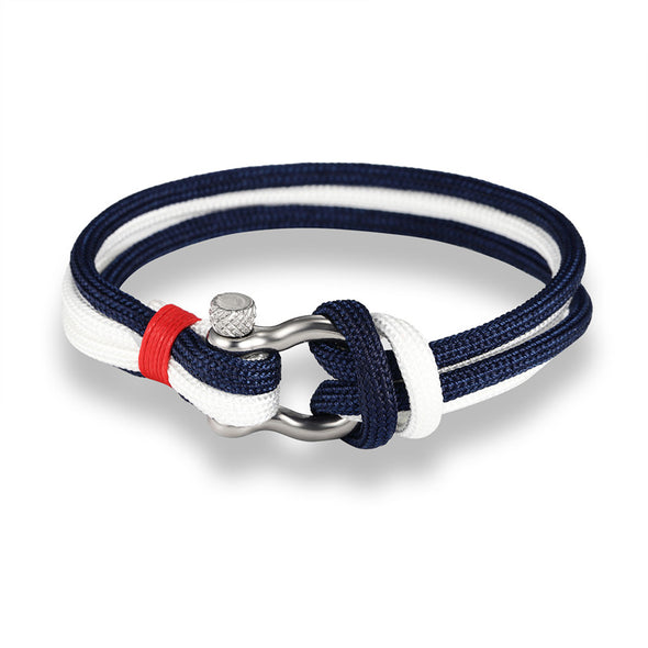 Ocean Life Nautical Rope Bracelet - Color: Double Blue Black
