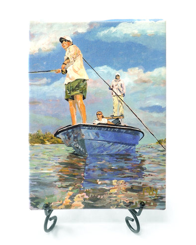 Lloyd goes fishing Mini Giclee