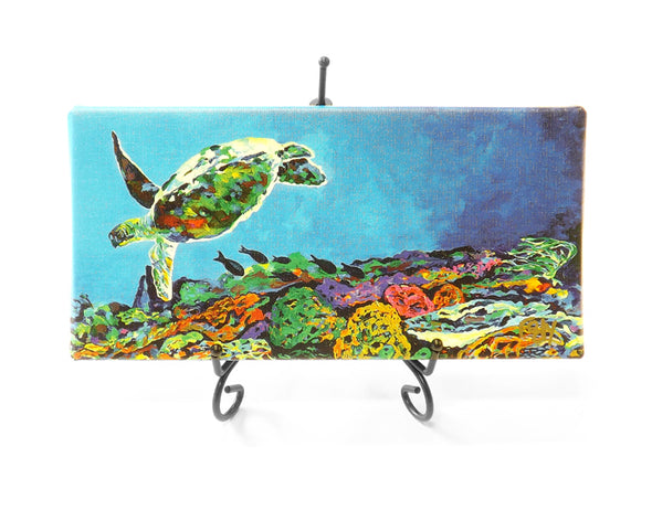 Long Sea Turtle Mini Giclee