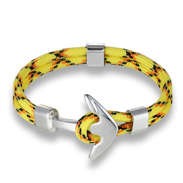 Ocean Life Nautical Anchor Bracelet - Color: Yellow