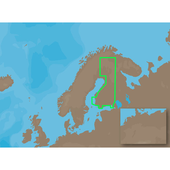 C-MAP MAX EN-M326 - Finland Lakes - SD Card