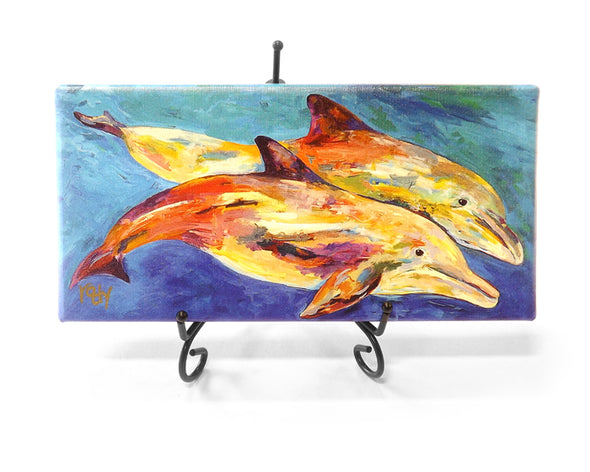 Pair of Dolphins Mini Giclee