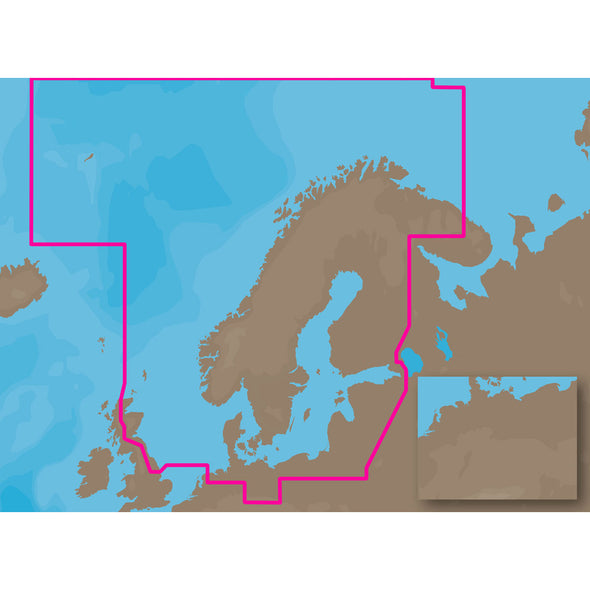 C-MAP MAX EN-M019 - North-Baltic Seas - C-Card
