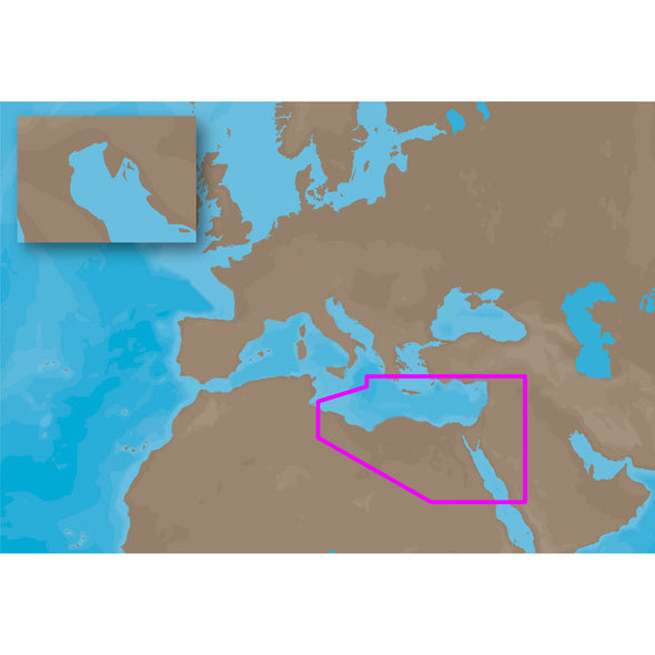 C-MAP NT+ ME-C201 - NE Africa Med & Mid East Coasts - C-Card