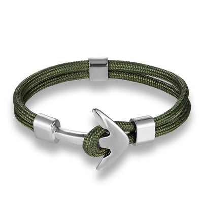 Ocean Life Nautical Anchor Bracelet - Color: Green