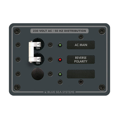 Blue Sea 8129 AC Main + Branch A-Series Toggle Circuit Breaker Panel (230V) - Main + 1 Position