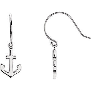 Petite Anchor Earrings