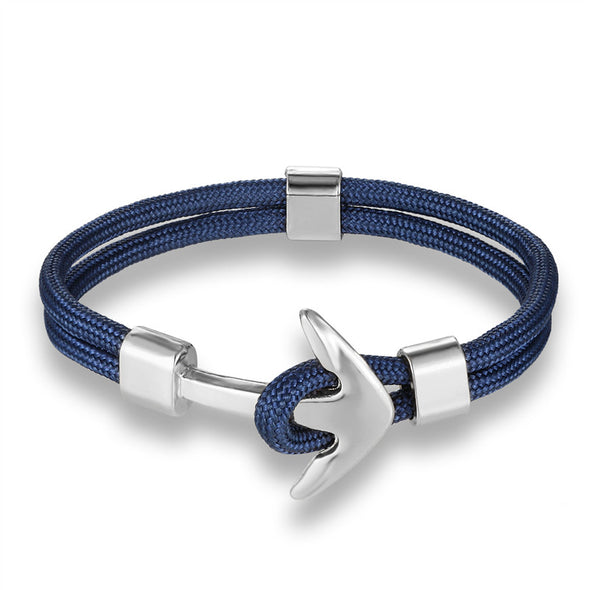 Ocean Life Nautical Anchor Bracelet - Color: Blue Abyss