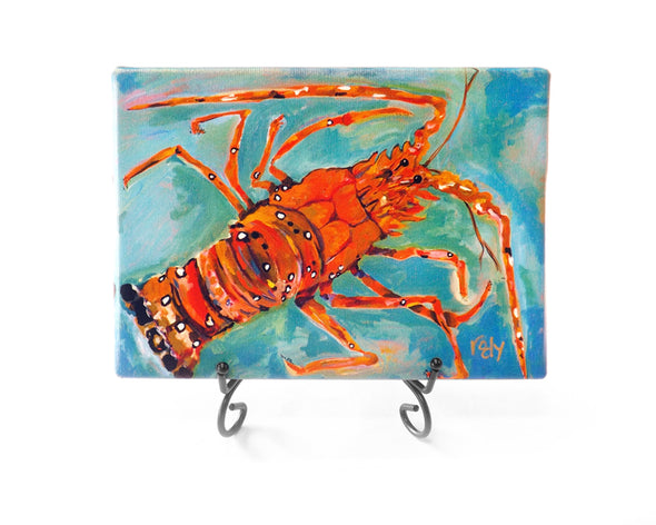 Green Lobster Mini Giclee