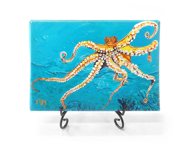 Out of the Blue Octopus Mini Giclee