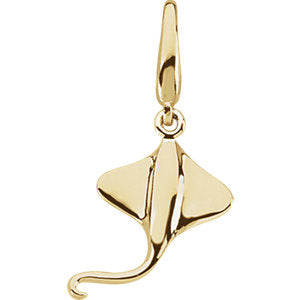Gold Fashion Stingray Charm