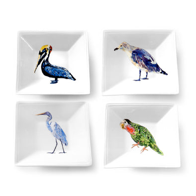 Seabird Collection Tidbit Dish 4-Pack