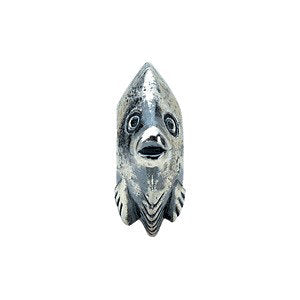 Sterling Silver 12.25x11.25mm Fish Bead
