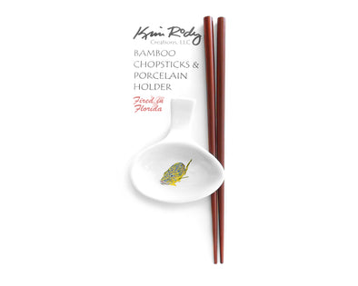 Blue Striped Grunts 3 Chopstick Set