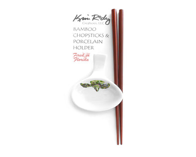 Green Sea Turtle Chopstick Set