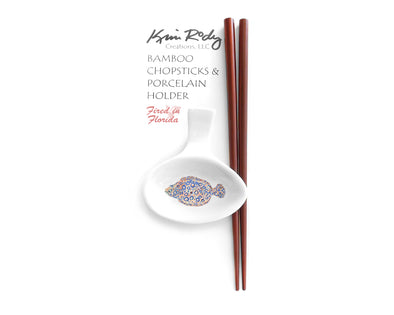 Peacock Flounder Chopstick Set