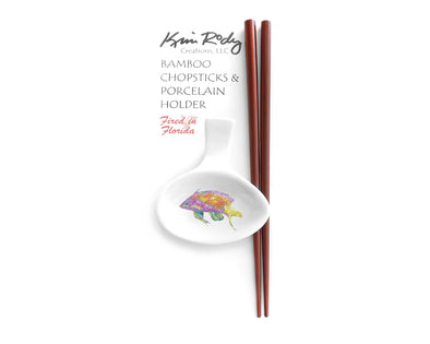 Pink and Yellow Basslets 1 Chopstick Set