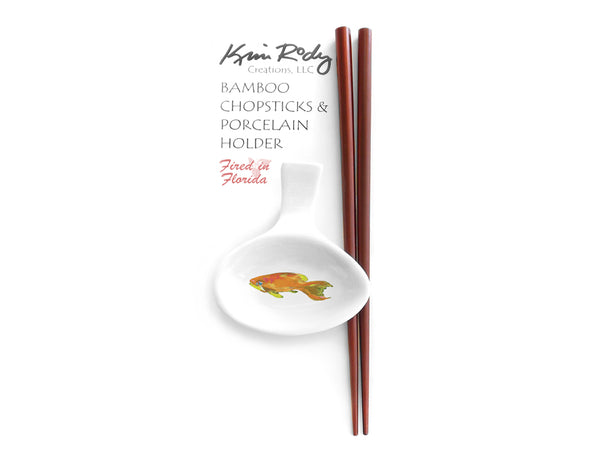 Pink and Yellow Basslets 2 Chopstick Set